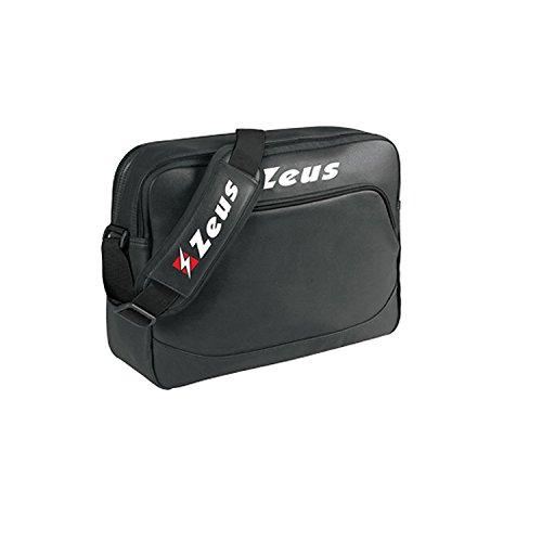 Zeus Borsa Centurion Herren Tasche Sporttasche Schultergurt Umhängetasche 40 x 10 x 30 cm (SCHWARZ)