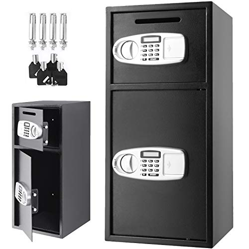 VEVOR Caja Fuerte de Seguridad con Llave, 75 x 34 x 34 cm Caja de Seguridad Digital con Cerradura de Seguridad, BXG-052 Caja Fuerte Digital de Hierro Fuerte, 33
