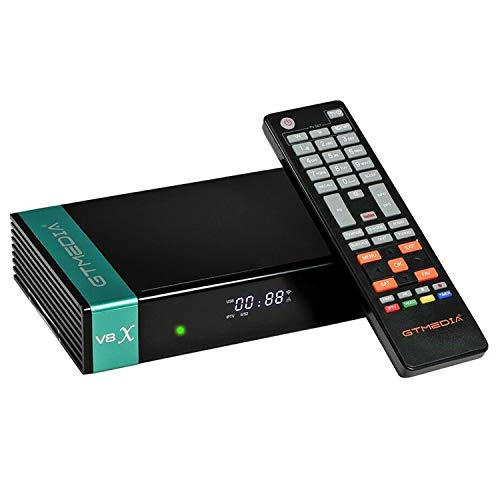 GTMEDIA V8X Upgrade from V8 Nova FTA Receptor de satélite Digital Full HD 1080P DVB-S/S2/S2X FTA Compatible con WiFi PowerVu Biss Key H.265