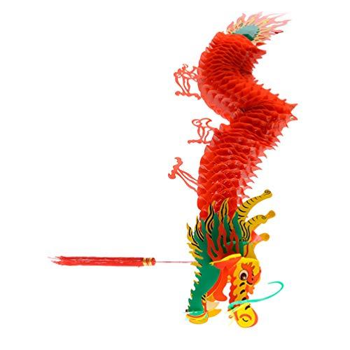 PRETYZOOM 1. 5M de Cajas de Decoraciones Chinas Dragn Ao Nuevo Lleva a Las Galletas de Disfraz de La Fortuna Linternas- Primavera Ao Nuevo Chino- Festival Dragn- Linterna Colgante de