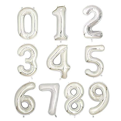 Decoración Globos Cumpleaños Número Interlocutor Decoraciones Globos 50pcs / Lot 16 30 40 Pulgadas Dígitos Número Foil Globos Oro Globo Partido Muchacho Cumpleaños Decoraciones Niños Bebé Figuras Duch