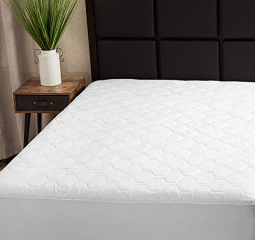 The Grand Mattress Pad Cover Fitted, Deep Pockets Bed Protection, Hypoallergenic & Breathable (Queen 60x80)
