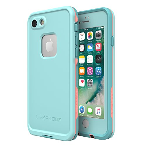 Lifeproof FRē Series Waterproof Case for Iphone 8 & 7  - Retail Packaging - Wipeout (Blue Tint/Fusion Coral/Mandalay Bay)