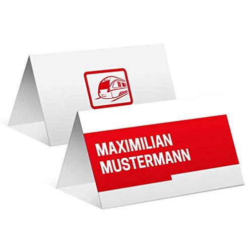 Tischkarten Hochzeit Geburtstag (10 Stück) - Bahnkarte Motiv - Platzkarten Namenskarten