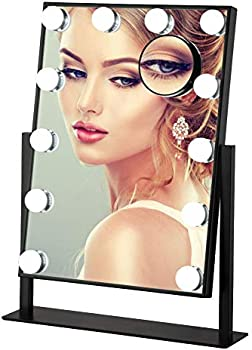 Cutygirl Smart Touch Control LED Large Vanity Makeup Mirror with Lights