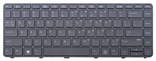 Teclado para computadora portátil Nuevo teclado retroiluminado para computadora portátil negro de EE. UU. (Con marco) Reemplazo para HP Probook 430 G3 440 G3 430 G4 440 G4 446 G3 Luz de fondo