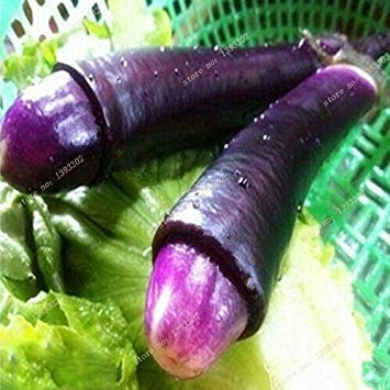 GEOPONICS Gemüse und Fruchtsamen Penis Chill-lila Hot Peter Pepper Samen Die lustigsten Paprika Hause Bonsai Samen Samen 10 Samen