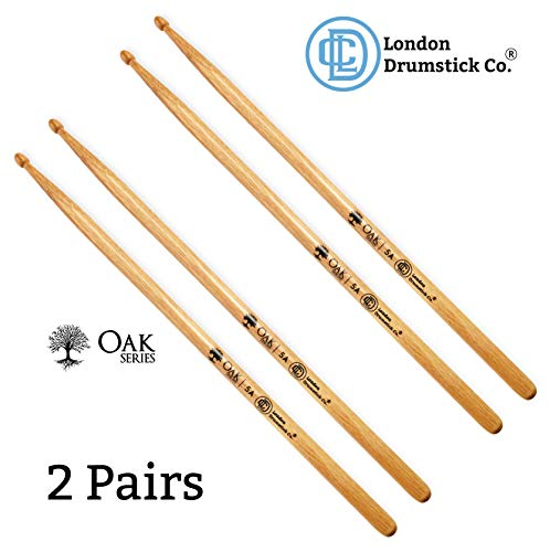 London Drumstick Company Oak Series 5A Wood Tip Oak Drumsticks (2-Pack)