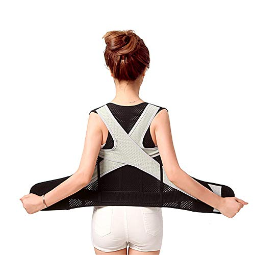 背筋矯正ベルト男女兼用 猫背姿勢改善 歪み予防 巻き肩 矯正 肩甲骨 バストアップ 背中ベルト 肩こり軽減 悪い姿勢を改善する 背中の痛み緩和 サポーター M