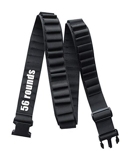 56 Rounds Adjustable Shotgun Shells Bandolier,Shells Shoulder Holder...