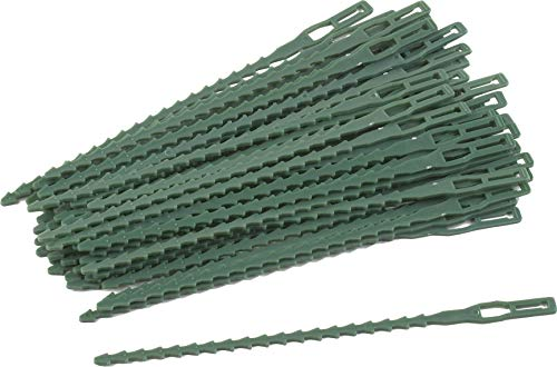 Meister Pflanzenbinder 17 cm - Praktisches Set mit 50 Stück - Mit flexiblem Drahtkern - Für Garten, Haushalt & Hobby - Aus Kunststoff / Allzweckbinder / Drehbinder / Universalbinder / 9970200