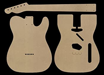 Telecaster MDF Guitar Body and Neck Template 0.25  thickness
