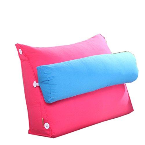 uus Coussin de canapé triangle moderne Design ergonomique avec coussin de tête amovible coussin de chevet Coussin de dossier à lame à rebord lent à la poubelle 45 * 50 * 20 cm ( Couleur : F )