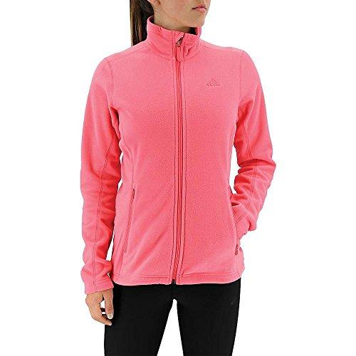 adidas Damen Outdoor Hiking Reachout Fleece Jacke, Damen, Super Blush, Large