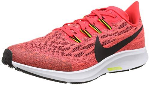 Nike Air Zoom Pegasus 36 (GS), Zapatillas para Correr Unisex Niños, Laser Crimson/Black/BRT Cactus/White, EU