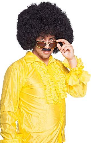 Parrucca afro nera XL