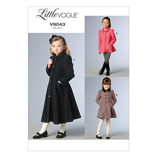 VOGUE PATTERNS V9043 Children's/Girls' Jacket and Coat Sewing Template, Size CDD (2-3-4-5)