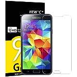 NEW'C 3 Stück, Schutzfolie Panzerglas für Samsung Galaxy S5 Mini, Frei von Kratzern, 9H Festigkeit, HD Bildschirmschutzfolie, 0.33mm Ultra-klar, Ultrawiderstandsfähig
