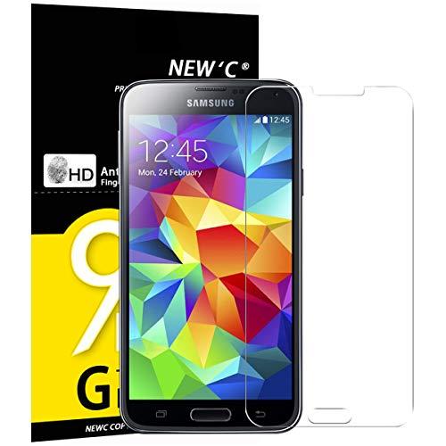 NEW'C 3 Pezzi, Vetro Temperato Compatibile con Samsung Galaxy S5 Mini, Pellicola Prottetiva Anti Graffio, Anti-Impronte, Durezza 9H, 0,33mm Ultra Trasparente, Ultra Resistente