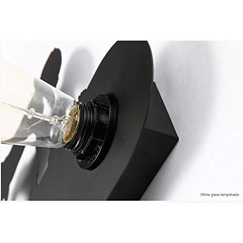 LIN HE SHOP Applique Murale rétro Rustique Lampe de Mur 55 × 30.5cm Cheval Ornement de cerf E27 Base pour la Maison Bar Chambre Corridor de Chevet décorer café, Bar à vin (Couleur : Model 4)