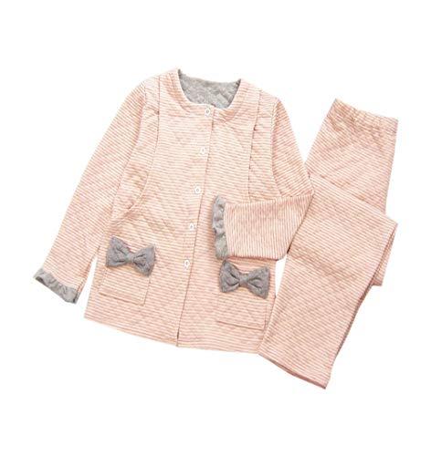 zhbotaolang Frauen Weicher Mutterschafts Pyjama Satz - Winter Warme Schwangerschafts Nachtwäsche(Rosa/XL)
