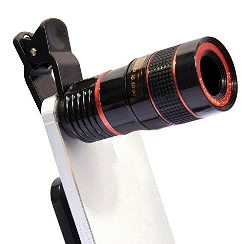 WH mobiele telefoon camera telescoop 8 keer mobiele telescoop zwart en wit oranje cirkel mobiele telefoon externe lens
