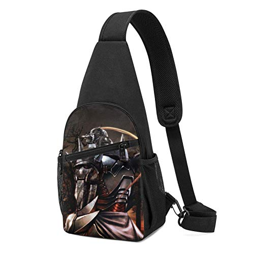 Fullmetal Alchemist Crossbody Bolsas para mujer y hombre, multifunción, bolsa de pecho, para viajes, senderismo, camping, ciclismo, mochila informal
