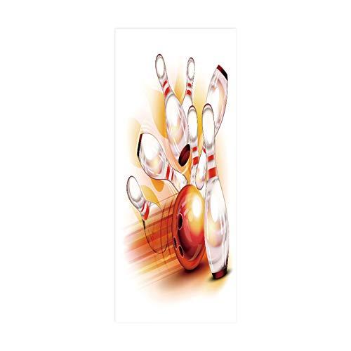 tianhao Bowlingkugel getroffen Dekor Fresko wasserdicht Türaufkleber Abnehmbare Paste Foto Wohnzimmer