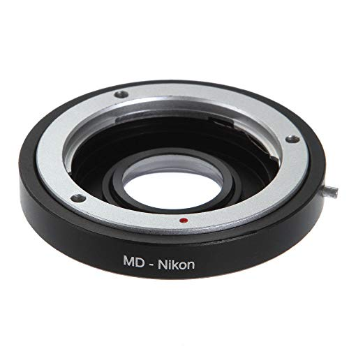 Shuangyu Adaptador de objetivo Infinity con cristal para objetivos Minolta MD Mount a Nikon-AI S F G Mount DSLR