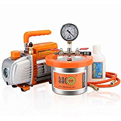in budget affordable BACOENG 2qt vacuum chamber kit (with single stage 3.6 cm3 vacuum pump)