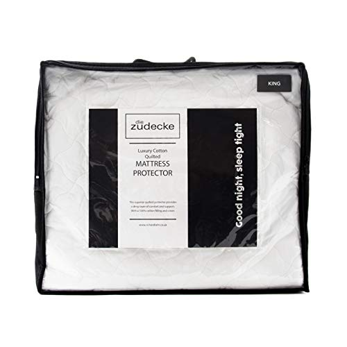 Surrey Down Die Zudecke 100% Cotton Extra Deep Quilted Mattress Protector, King