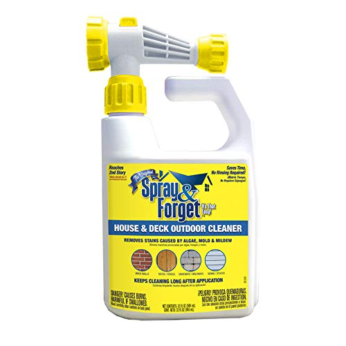 Spray & Forget SFDHEQ06 House & Deck Outdoor Cleaner, 32 oz, White
