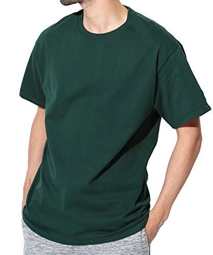Champion(チャンピオン) Authentic ベーシックTシャツ メンズ 半袖 コットン 無地 M ダークグリーン1