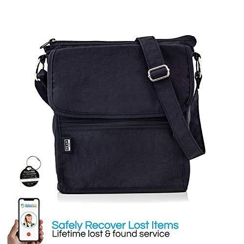Travel Crossbody Purse - Hidden RFID Pocket - Includes Lifetime Lost    Found ID a4bdd37d26a5f