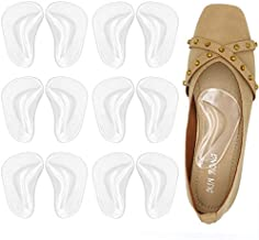 Gel Arch Support Cushions for Men & Women, Shoe Insoles for Flat Feet, Reusable Arch Inserts for Plantar Fasciitis, Adhesive Arch Pad for Relieve Pressure and Feet Pain