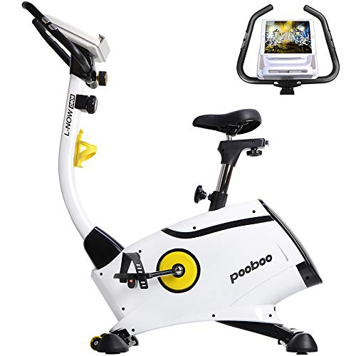 L NOW Exercise Bike Magnetic Resistance Indoor Cycling Bike Belt Drive Stationary Bike with LCD display