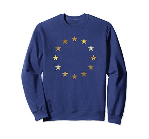Pro EU Flagge (Vintage/Gelb) Stop Brexit Europa Sweatshirt