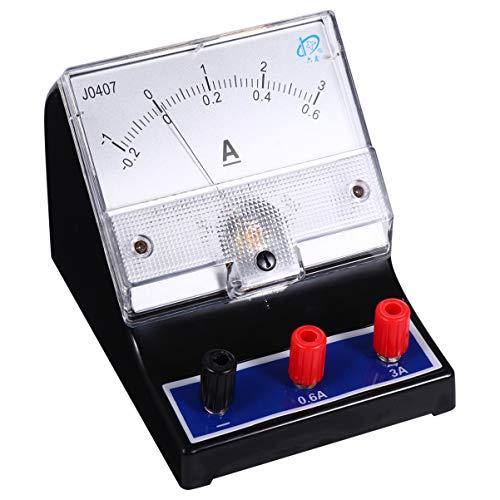 ULTECHNOVO Analoger Amperemeter Zeigertyp Stromstrom Ampere Tester Amperemeter Strommesswerkzeug für Laborschule 0-3A