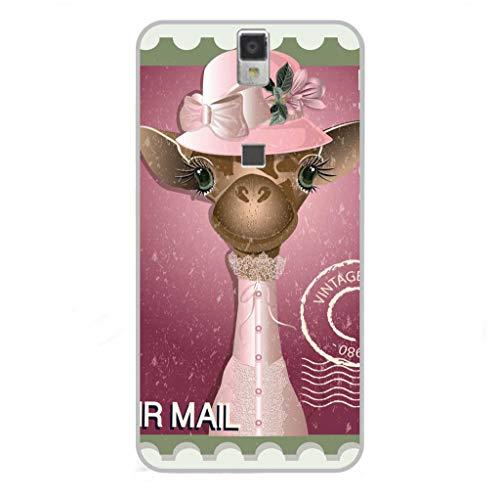 Todo Phone Store Hülle Schutzhülle Design LED UV Druck Silikon Zeichnung TPU Gel [Tiere 006] für ELEPHONE P8000