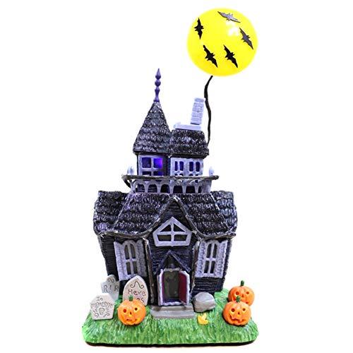 Genlesh Halloween-Spukhaus, Spukhaus-Spielzeug, Dekoration gruseliges Spukhaus, blinkende Lichter, Geräusche, Bewegungsmelder, Spielzeug für Zuhause, Dekoration