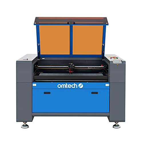 OMTech 80W CO2 Laser Engraver and Cutter, 24x35 Inch Laser Engraving Cutting Etching Marking Machine with Red Dot Pointer Autofocus Auto Lift Workbed Ruida Controls More for Home Office DIY(AF2435-80)