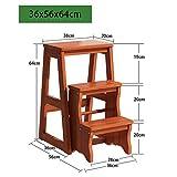 LJDGXTDZ Mehrzweckleiter Trittleiter Holzklappleiter Mehrzweckleiter Stuhl Kreative Küche Schlafzimmer Trittleiter-A