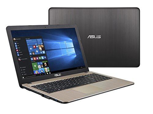 Asus X540NA-GQ017T Notebook, Display da 15.6 , Processore Celeron N3350, 1.1 GHz, HDD da 500 GB, 4 GB di RAM, Chocolate Black [Layout Italiano]