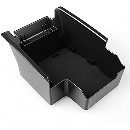for Ford kuga 13-15 Custom Center Console Organizer Armrest Box Secondary Storage Insert ABS Black Materials Full Tray for Hidden Accessories