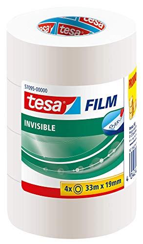 tesafilm matt-unsichtbar, 33m x 19mm, 4 Rollen
