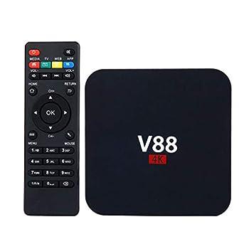 AMGUR V88 4K Android 7.1.2 TV Box RK3229 Quad Core 1GB/8GB Smart TV Box Support 3D Movie HD 1080P WiFi H.265 USB Home Media Player