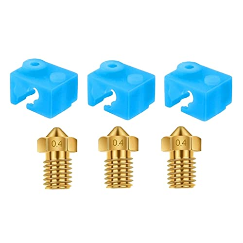 Zrong 3D Printer Heater Block Silicone Cover Thermal Protection Silicon Socks for V6 Hotend and 0.4mm Extruder Nozzles