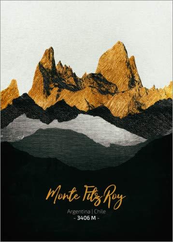 Posterlounge Leinwandbild 50 x 70 cm: Monte Fitz Roy von Tobias Roetsch - fertiges Wandbild, Bild auf Keilrahmen, Fertigbild auf echter Leinwand, Leinwanddruck