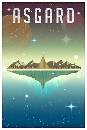 Asgard Fantasy Travel Comic Book Superhero Planet Cool Wall...