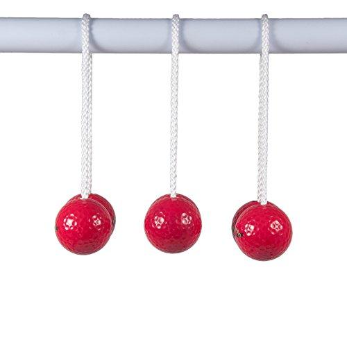 TOSSO,INC Ladder Golf Brand - Red Bolas - Set of 3